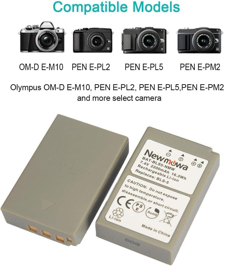 Bls-5 Blumax batería 1100mah bls50 dual cargador para Olympus OM-D e-m10 Mark III