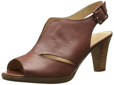 Bella Vita Women's Leona Platform Sandal, Brown, ...