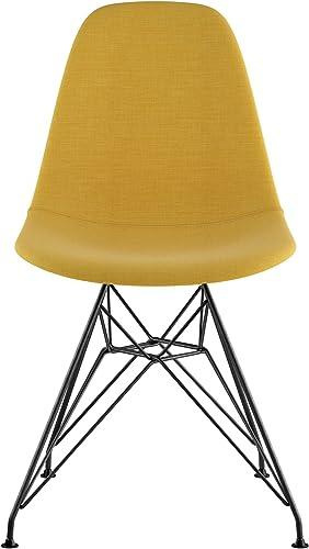 NyeKoncept Mid Century Eiffel Side Chair, Papaya Yellow