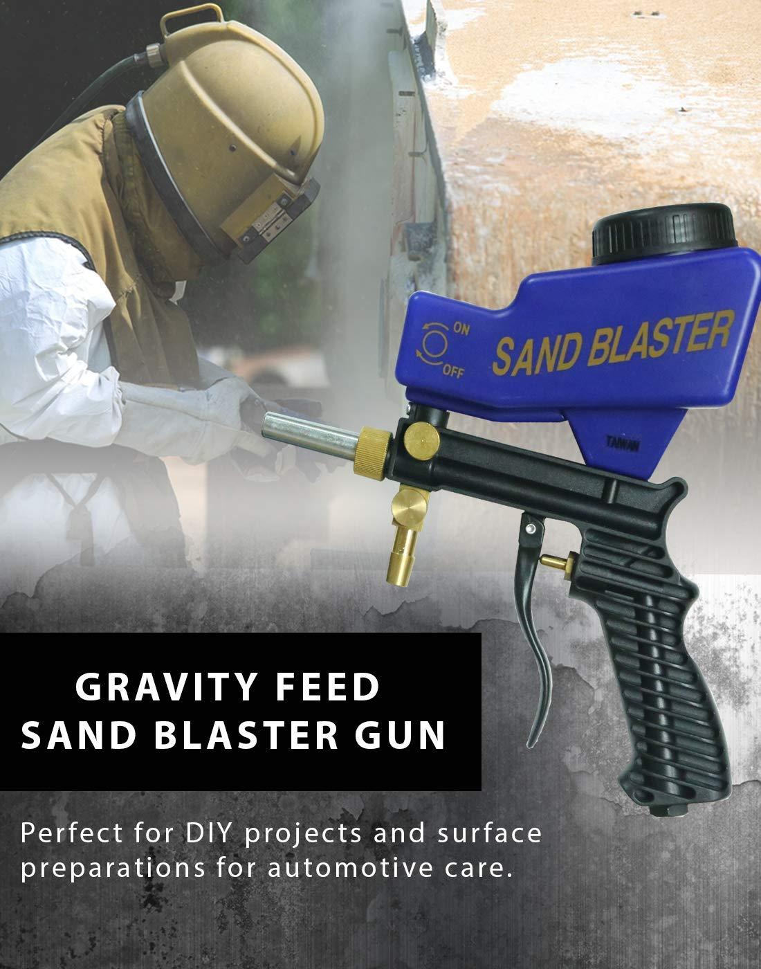 Improved Sandblaster Sand Blaster Gun Kit, Soda Blaster, Professional Sand Blasters, Media Sandblaster Gun, Spot Blaster, Media Blaster Sandblast Gun, Walnut, Bead, Sand Blast Blasting Equipment. (A by LE LEMATEC (Image #7)