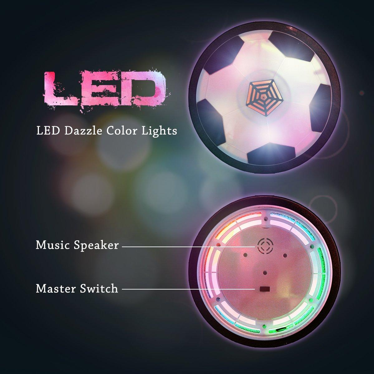 Funtok Air Power Fußball Hover Ball Leuchten mit LED Spielzeug mit ...