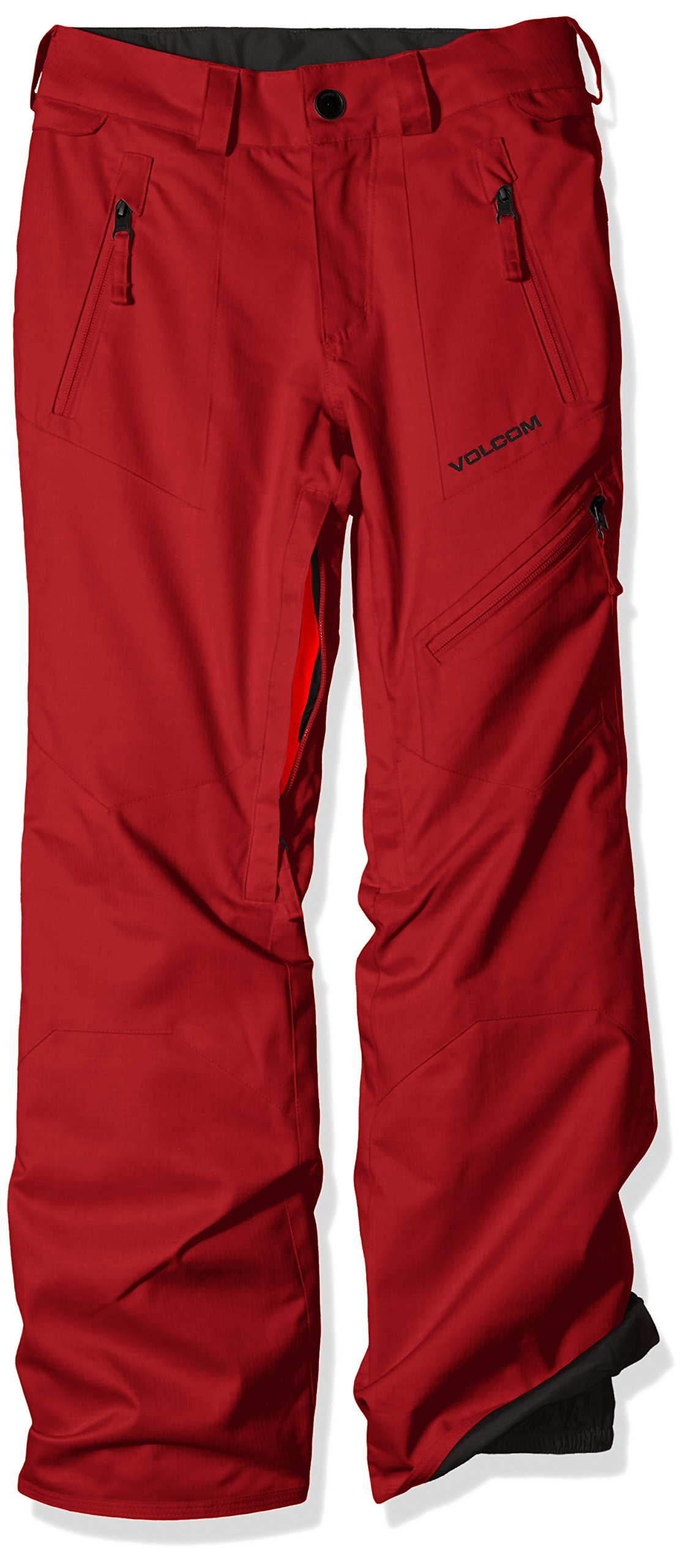 Volcom Big Boys' Cassiar Insulated Pant, Blood Red, XS by Volcom