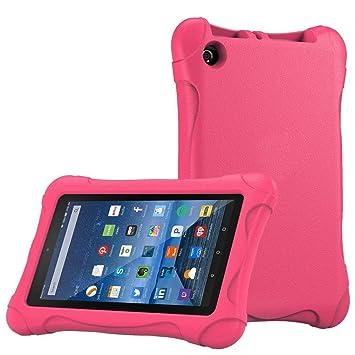 4aee27655793 Amazon.com: Creazy For Amazon Kindle Fire HD 7 2015 case,Kids Shock ...