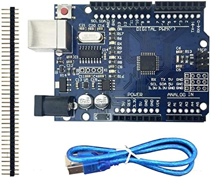Morning May Starter Kit para Arduino Uno R3 - Pack de 6 artículos: Uno R3, Breadboard, Cables Jumper, Cable USB y Conector Batería 9V: Amazon.es: Instrumentos musicales
