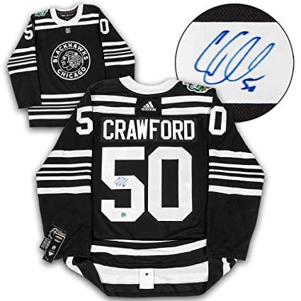 new styles 4e0a4 58f0f Corey Crawford Chicago Blackhawks Signed 2019 Winter Classic ...