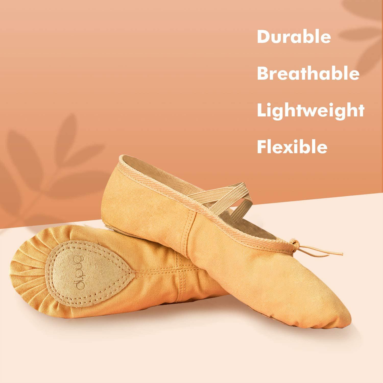 Toddler//Little Kid//Big Kid//Women DIPUG Ballet Shoe Ballet Slippers for Girls Toddler Canvas Dance Shoe