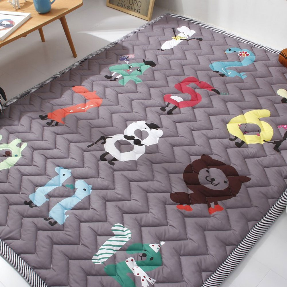 IHEARTYOU Thick Baby Crawling Mat Digital Game Play Carpet Children Bedroom Decor Nursery Rug