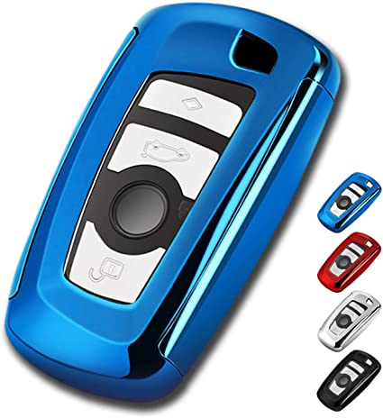 red Longzheyu Key Fob Cover for BMW Key Fob Case for BMW 1 3 4 5 6 7 Series X3 X4 M5 M6 GT3 GT5 Remote Control Key Premium Soft TPU Anti-dust Full Protection