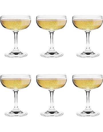 Argon Table Ware Copa de champán – 6 – Paquete de regalo 180 ml – 6