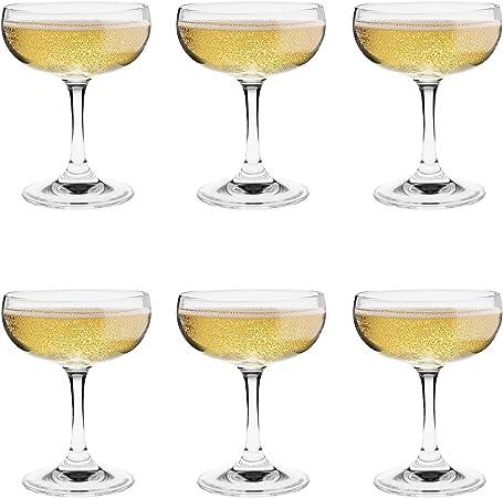 Argon Tableware Copas de champán Tipo Pompadour - En Caja Regalo - 180 ml - Pack de 6: Amazon.es: Hogar