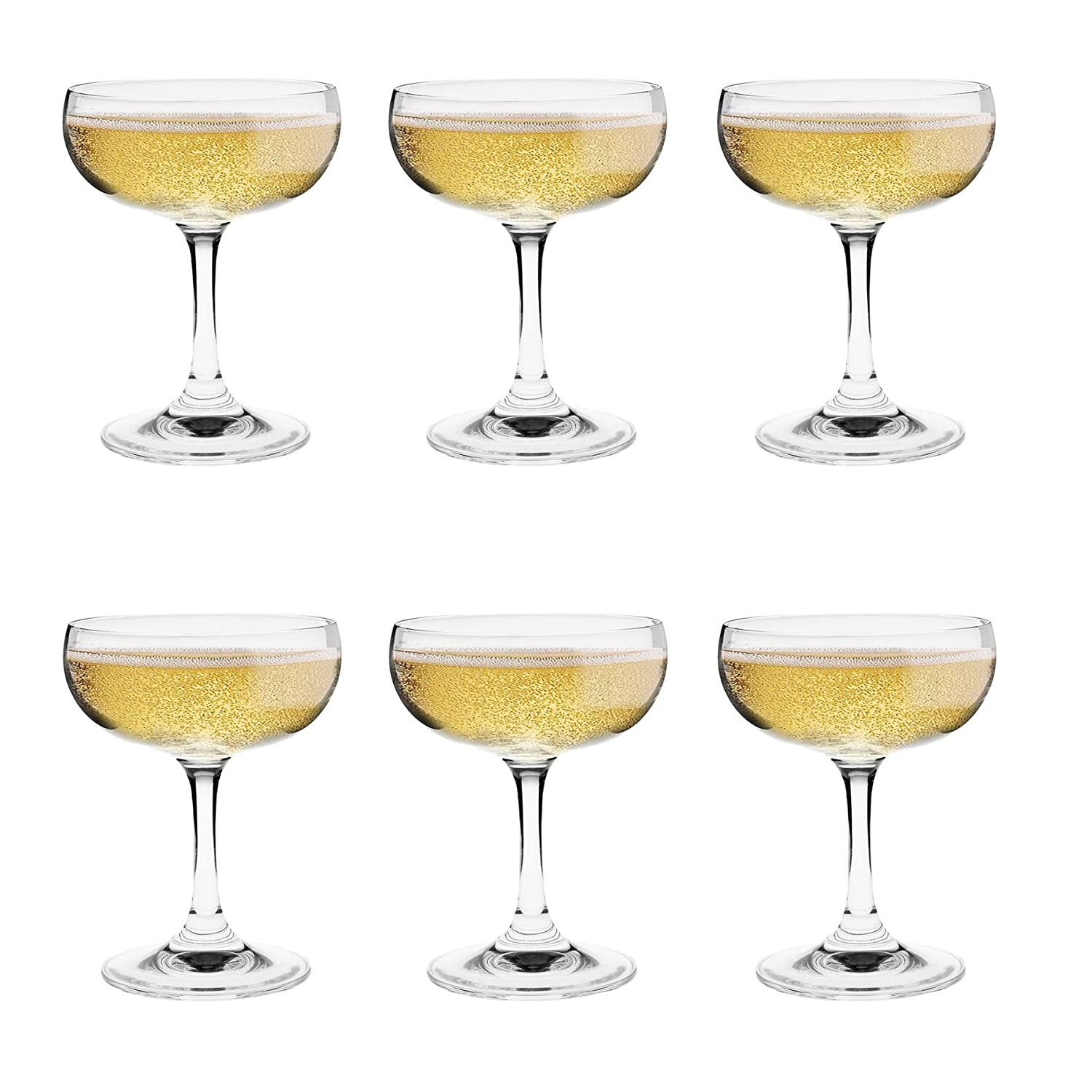 Champagne Saucers - Colour Retail Gift Box of 6 - 180ml / 6.25oz Argon Tableware