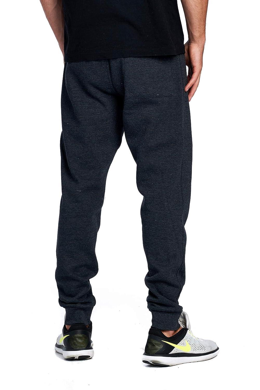 19fafdd4b850d ProGo Men's Casual Jogger Sweatpants Basic Fleece Marled Jogger Pant  Elastic Waist