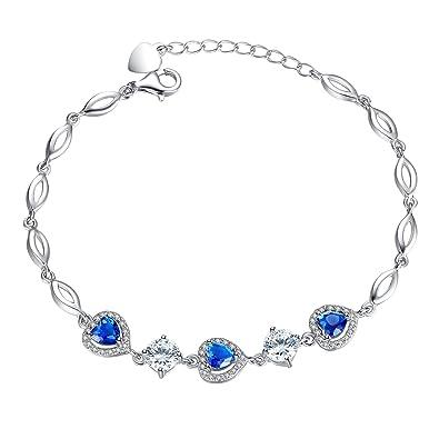 grand choix de 38461 cda93 Forfamilyltd Bracelet Coeur femme - Saphir Swarovski ...