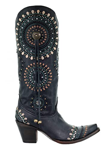 Corral Women/'s Black Crystal /& Embroidery Snip Toe Western Boots A3525   SALE!!!