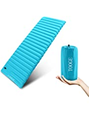 TOOGE Inflatable Sleeping Mat Self Inflating Camping Mattress Single Waterproof Compact 9cm Ultra Thick Super Wide