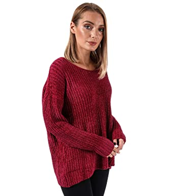 best shoes wholesale dealer clearance prices Brave Soul Pull Chenille Col V Rouge Femme: Amazon.fr ...