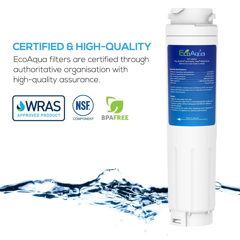 Filtre ecoaqua 6025A compatible avec Bosch 9000077104 UltraClarity 644845 EFF-6025A