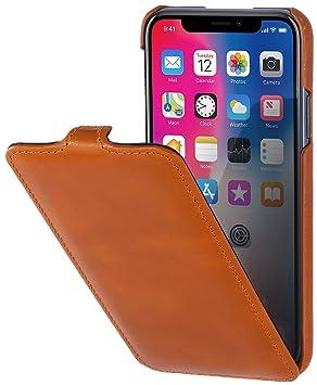 StilGut - Funda UltraSlim de Piel auténtica para iPhone X y iPhone XS. Carcasa Delgada