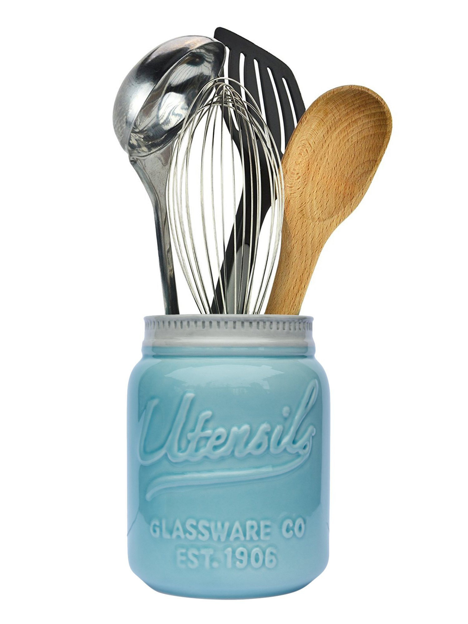 Wide Mouth Mason Jar Utensil Holder by Comfify - Decorative ...