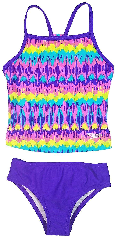 Speedo Girls Racerback 2-Piece Tankini Swimsuit 323027