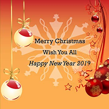 Amazon.com: Merry Christmas & Happy New Year 2019 Wish Banner, Heavy ...
