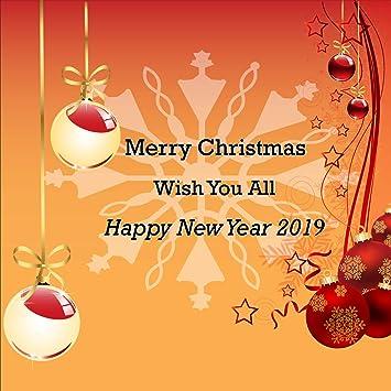 Merry Christmas 2019.Amazon Com Merry Christmas Happy New Year 2019 Wish
