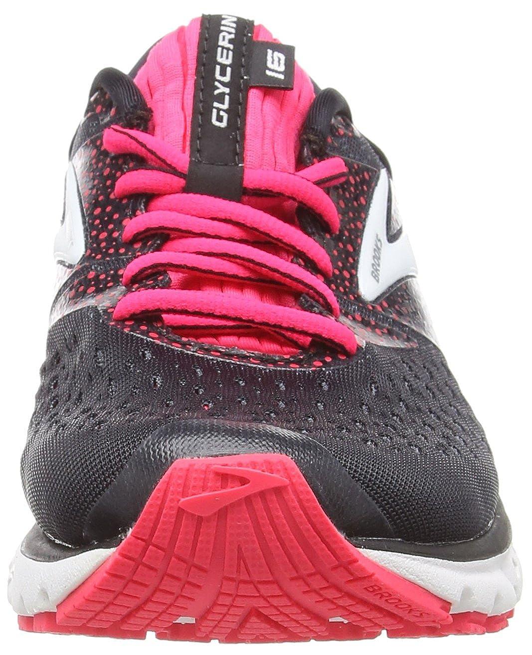 Brooks Women s Glycerin 16 Black Pink Grey 9.5 B US