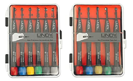 LINDY 430112 - Juego de destornilladores de precisión de 11 piezas - Phillips, Plano y Torx