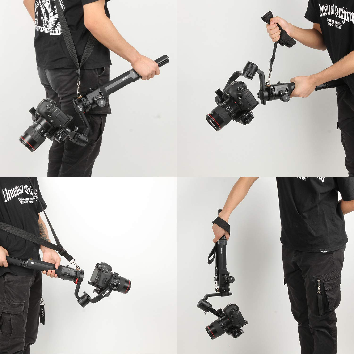 Ronin-S Shoulder Strap Clamp Ring Adapter for Flash Rode Video Microphone and LED Light Accessory Filmmaker Vlog Via 1/4'' and 3/8'' Screw by Sutefoto (Image #4)