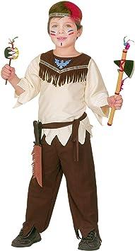 WIDMANN 43799 - Disfraz indio para niños, multicolor, 110 cm ...
