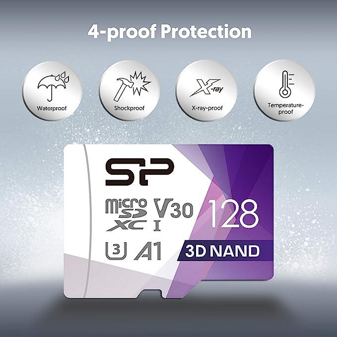 Silicon Power Fbe Su128gbstxdu3v20eu Microsdxc Uhs 3 Speicherkarte