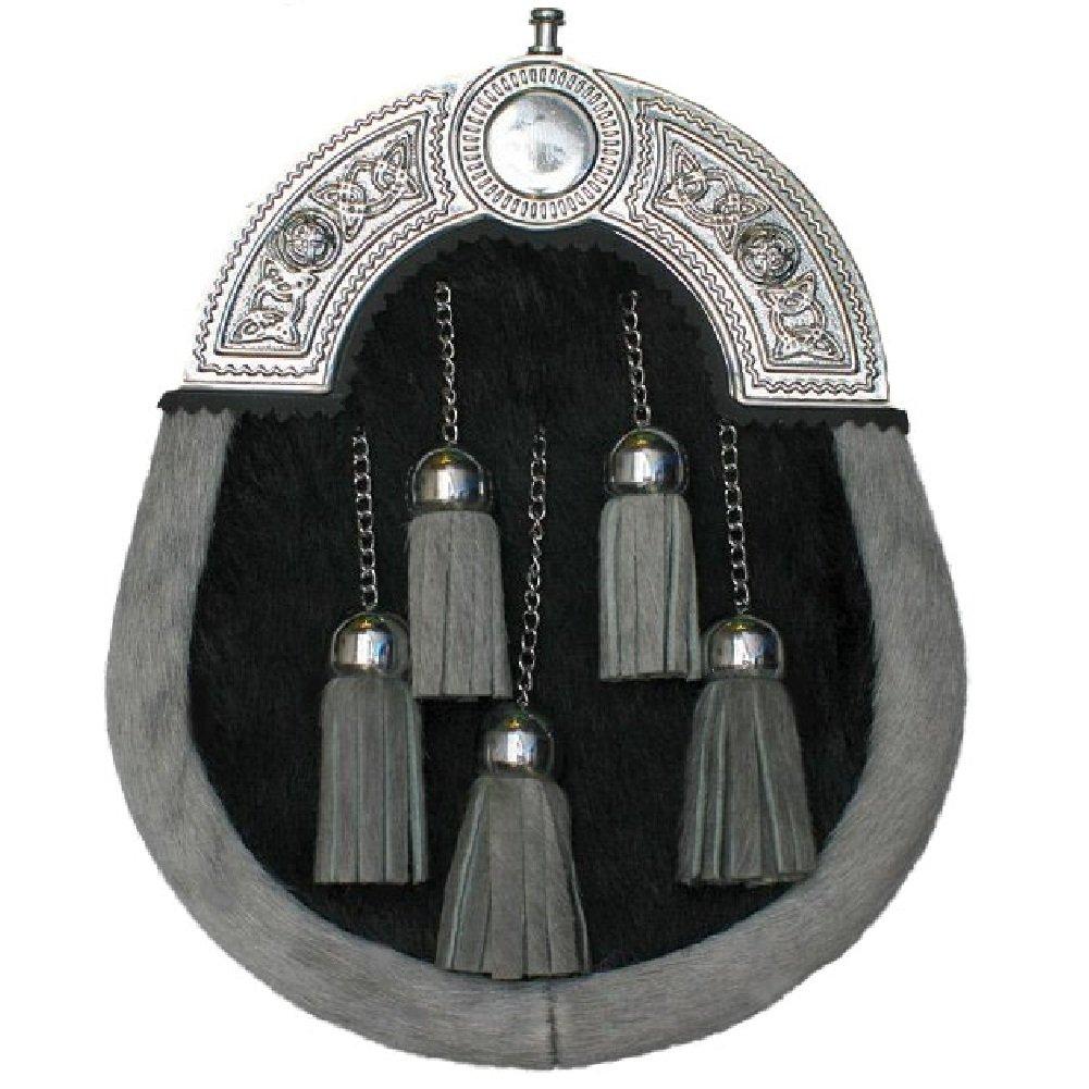 Tartanista Men's Kilt Sporran Bovine Fur 5 Tassel Dress