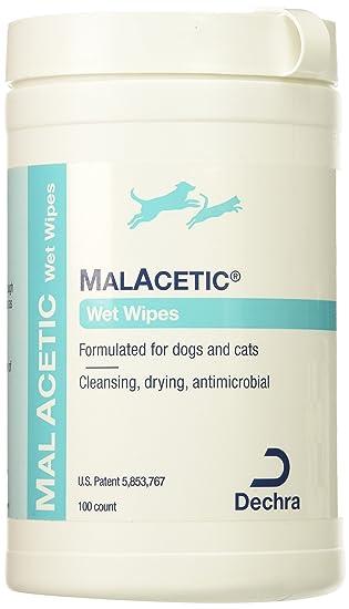 Malacetic wet wipes perros y gatos. Toallitas limpiadoras.: Amazon.es: Hogar