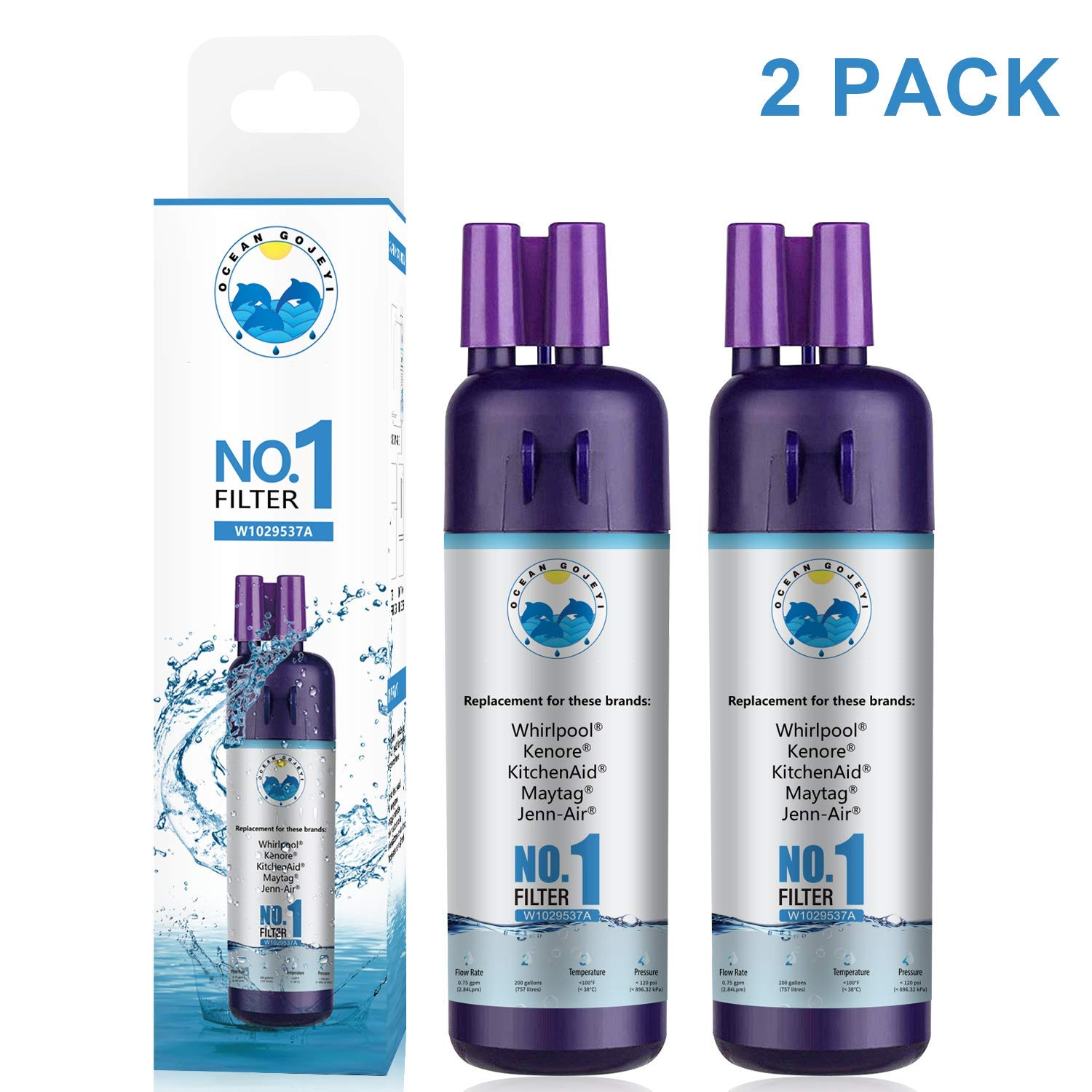 WF1 Compatible for Water Filter 1 Refrigerator Replacement for Kenmore 9081 9930 Compatible with 9930 9081 Water Filter 9081 Filter 1 2 Pack