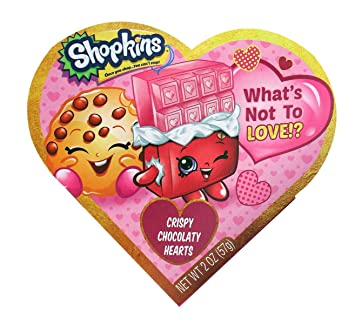 Amazon Com Shopkins Valentines Day Heart Gift Box With Chocolate