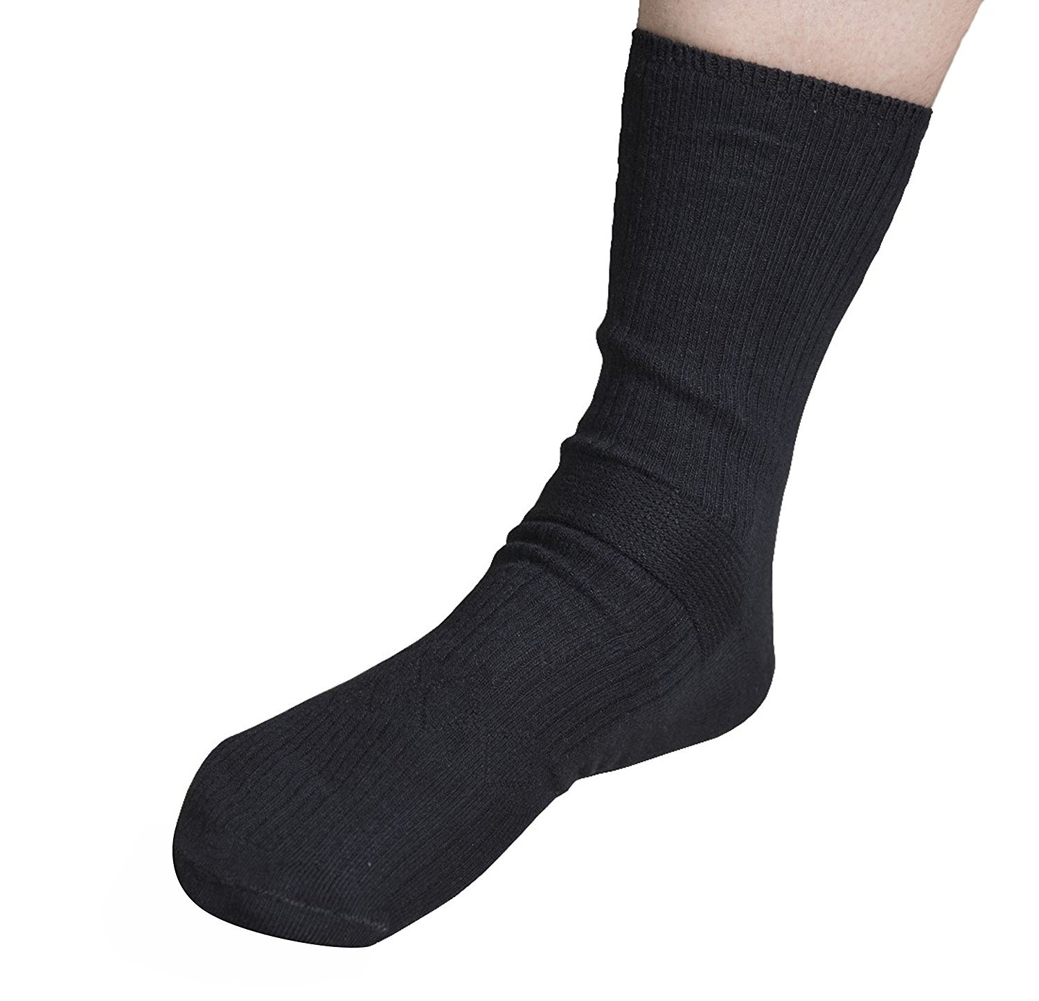Black Diabetic Gel Socks