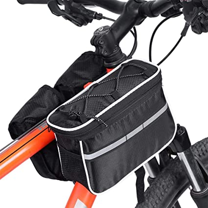 Handlebar Basket Bag Bike Reflective Front Pannier Tube Waterproof Bicycle