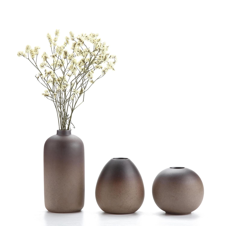 Soliflores design pas cher : Ensembles de Vases en Céramique Décoration d'intérieur Cadeau Idéal Pour le Mariage Vase à Plantes Hydroponiques Pots de Fleurs 1 paquet de 3