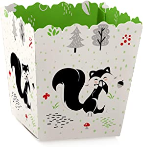 Little Stinker - Party Mini Favor Boxes - Woodland Skunk Baby Shower or Birthday Party Treat Candy Boxes - Set of 12