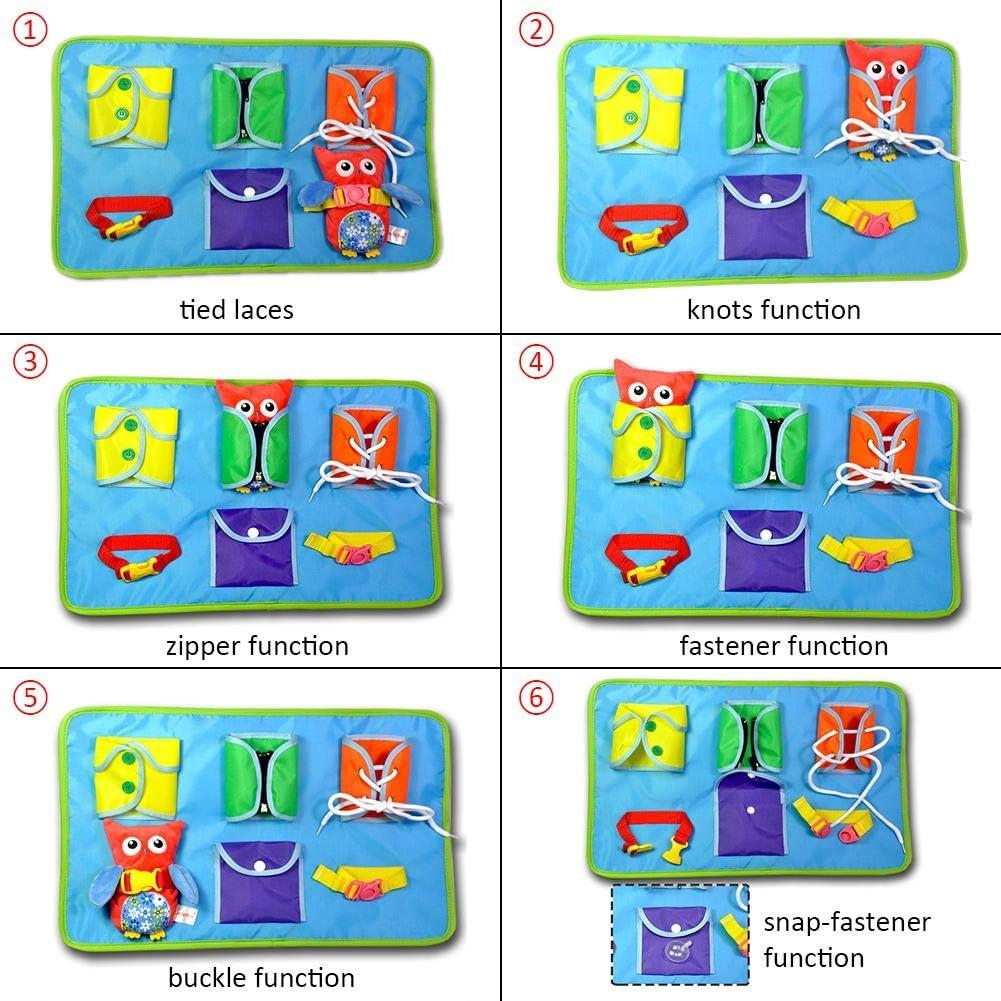 B/éb/é Jeu Educatif Apprentissage Habiller en Peluche Hiboux Poup/ée Jouets Hibou Garde-Robe Jouets dapprentissage Eruditter Tableau dapprentissage De Puzzle en Tissu pour B/éb/é