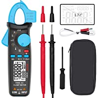 BSIDE AC Current Clamp Meter Auto-Ranging 6000 Counts with Temperature Capacitance Frequency Live-Check V-Alert