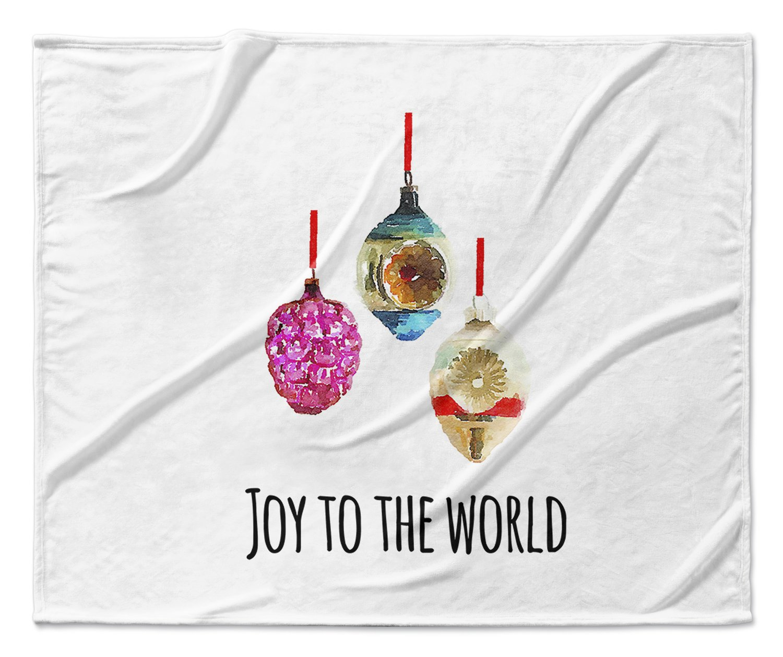 Size: 50x60x1 - - Black//White//Gold//Purple//Blue//Pink TElAVC1324VPM KAVKA Designs Joy To The World Fleece Blanket,