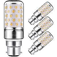 Yiizon 12 W LED Maïs ampoules, B22, 100W Ampoule à incandescence équivalent, 3000K Blanc Chaud, 1200LM, Cri>80 +, Petit culot à vis, non dimmable, Chandelier ampoules LED(4 PCS)