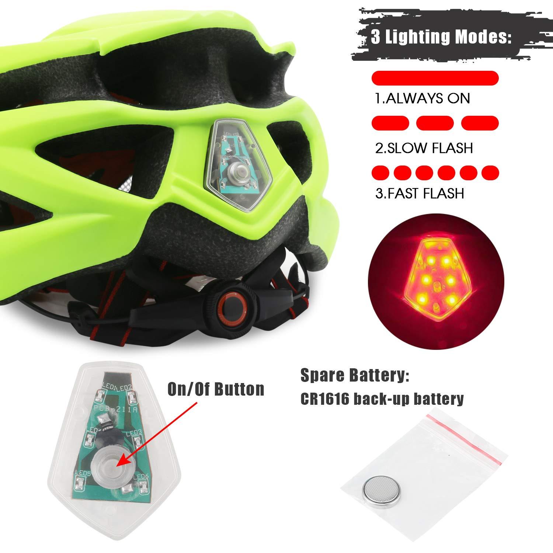 Protecci/ón de Seguridad Ajustable Deporte Ligera para Montar en Bicicleta Casco de Bicicleta BMX Scooter Skate Mountain Road Hombres Mujeres Adultos Shinmax Casco Bicicleta con Visera