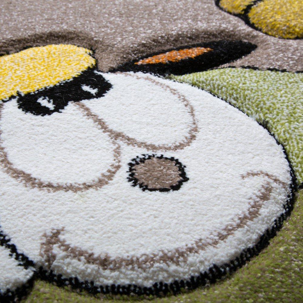 Paco Paco Paco Home Kinderteppich Kinderzimmer Konturenschnitt Baby Giraffe Beige Creme Pastellfarben, Grösse 200x290 cm 72244d