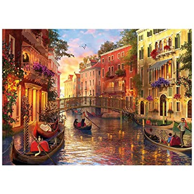 Jigsaw Puzzles 1000 Pieces for Adults, Italy Water City Venice Painting, DIY Set Unique Gift Home Decor Children's Educational Toys Large Paper Puzzles for Adults or Kids 14 and up Ages 70 x 50cm: Home Improvement