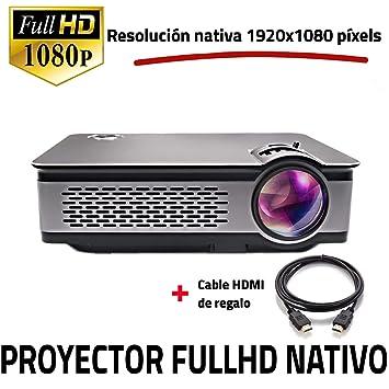 Proyector Full HD Nativo 1080P, UNICVIEW FHD900 (Actualizado 2019), Proyectores Maxima luminosidad Portátil LED Cine en casa 1920x1080 Real,HDMI, ...