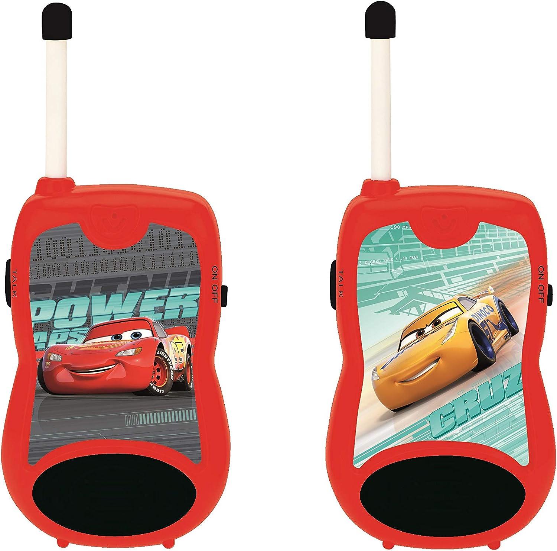 Lexibook- Disney Cars Lighting McQueen Talkies-Walkies Clip Ceinture Rouge Noir Jeu de Communication pour Enfant TW12DC-3 /à Piles