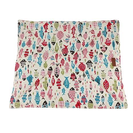 baoblaze Carino pescado Impresión cojín cama Mat perro Mat para Primavera Verano Para Gato Pet Animales