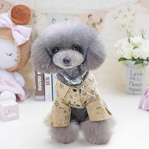 Lindo Camisa del perro, del animal doméstico de la tela escocesa del polo ropa de la